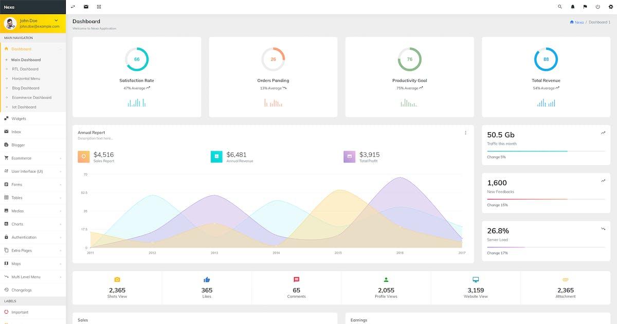 Download Nexa - Bootstrap Admin Template by wrraptheme