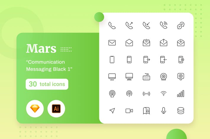 Thumbnail for Mars - Communication Messaging Black 1