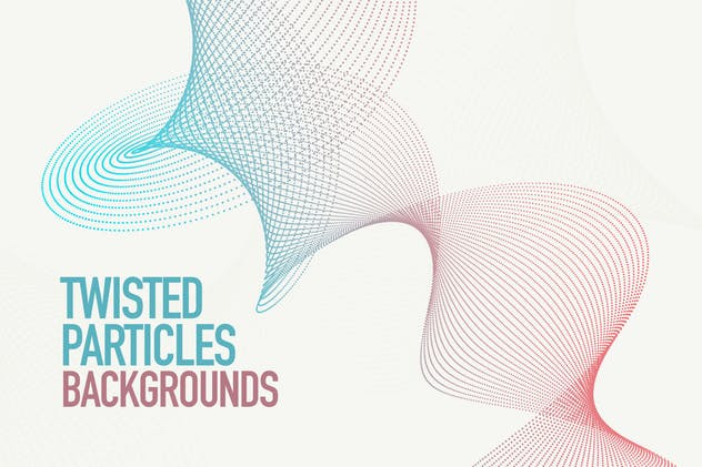 Dynamic Twisted Particles Background Set - product preview 0