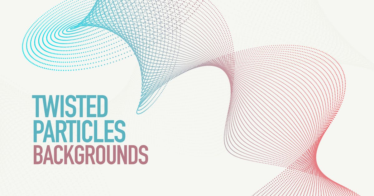 Download Dynamic Twisted Particles Background Set by themefire