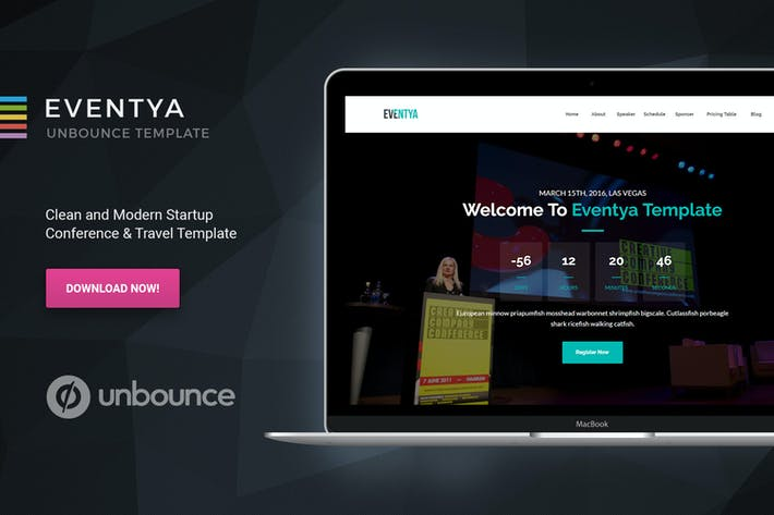 Cover Image For Eventya - Unbounce Landing Page