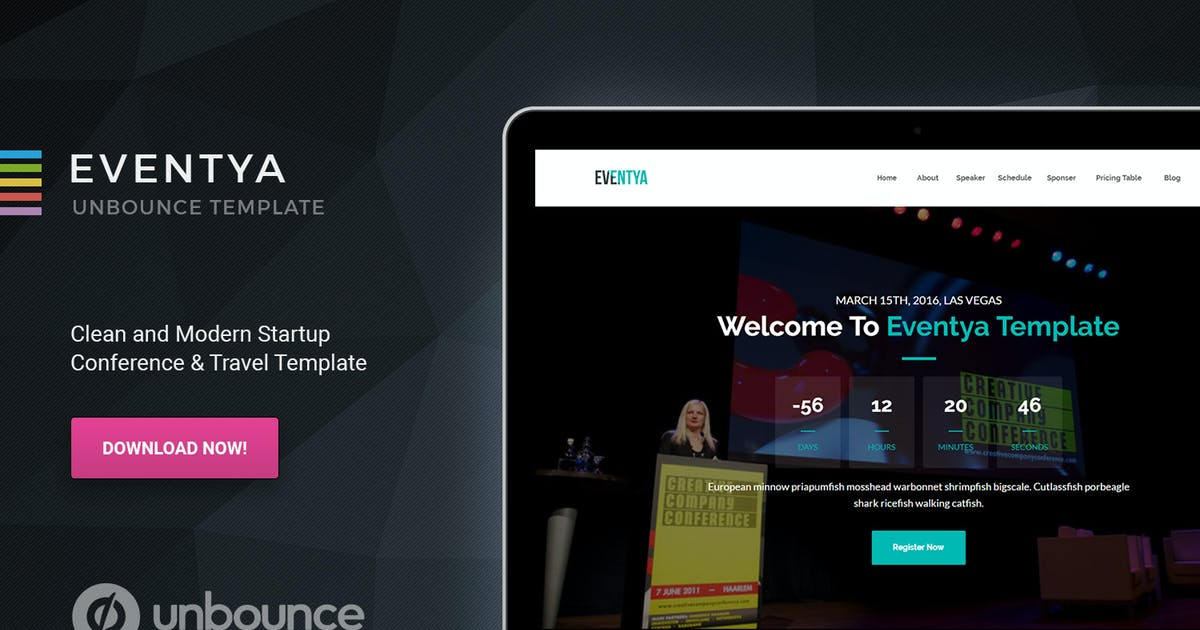 Download Eventya - Unbounce Landing Page by Morad