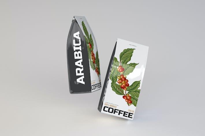 Dünne Kaffeepack-Mockup