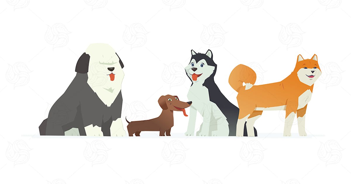Download Cute dogs - vector illustration by BoykoPictures