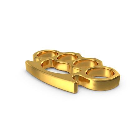 Nudillos de latón dorado