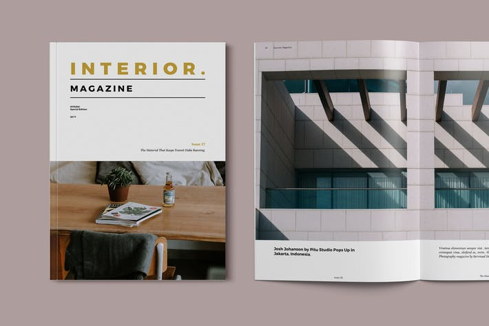 Thumbnail for Interior Magazine Template