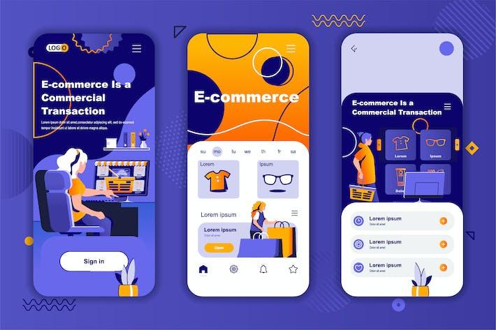 E-commerce Instagram Stories Onboarding Screens