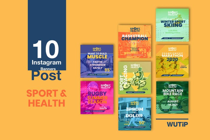 Thumbnail for 10 Instagram Post - Sport and Health