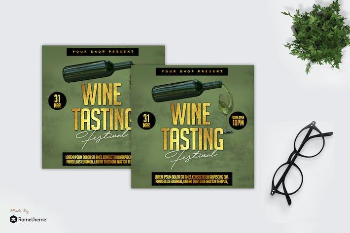 Thumbnail for Wine Tasting Promo - Flyer MR