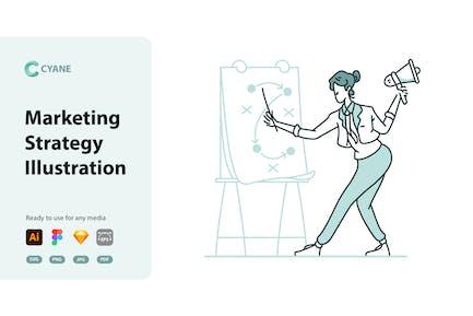 Cyane - Marketing Strategy Illustration