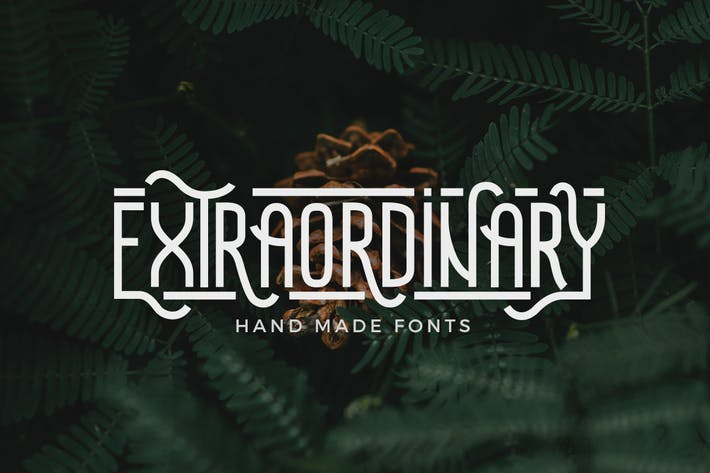 Thumbnail for Extraordinary - Handmade Font