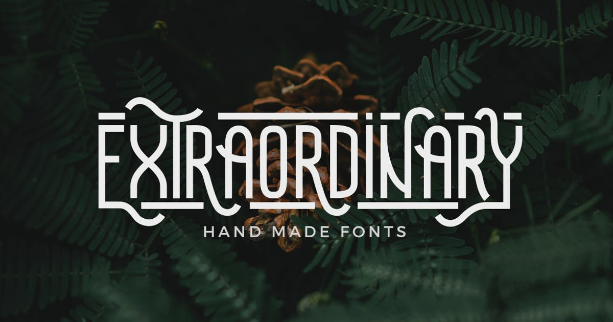Download Extraordinary - Handmade Font by micromove