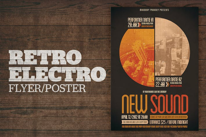 Thumbnail for Retro Electro Poster