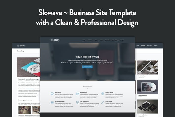 Cover Image For Slowave - Multipurpose Responsive HTML5 Template