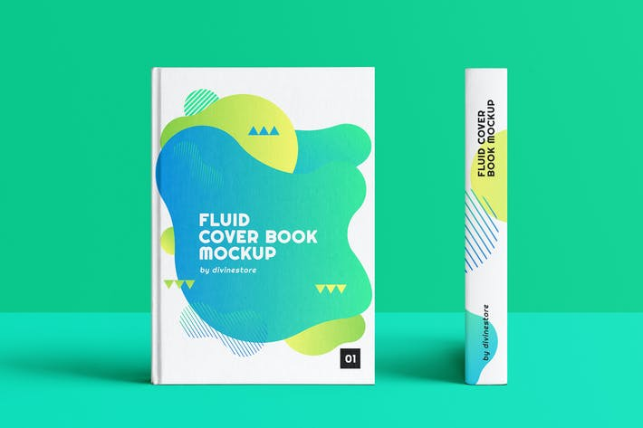 Thumbnail for Fluid Cover Book Mockup