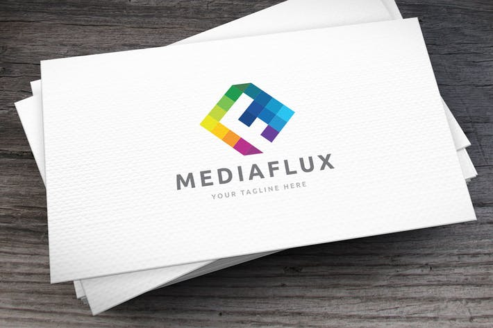 Thumbnail for Mediaflux Letter F Logo Template