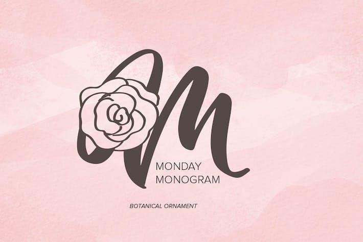 Thumbnail for Monday Monogram Font