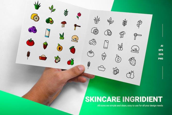 Hautpflege Ingridient - Icons