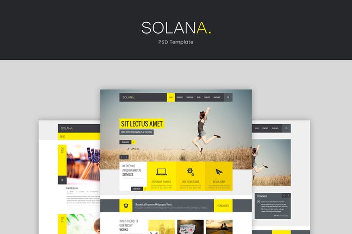 Thumbnail for Solana – PSD Template