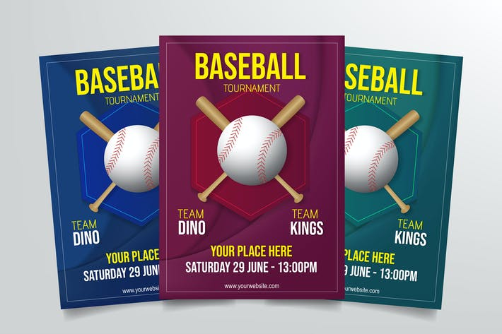 Thumbnail for Baseball Tournament Flyer Template