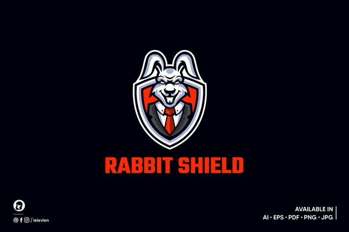 Rabbit Shield logo template
