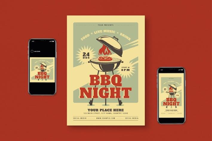 Thumbnail for BBQ Night Flyer Set