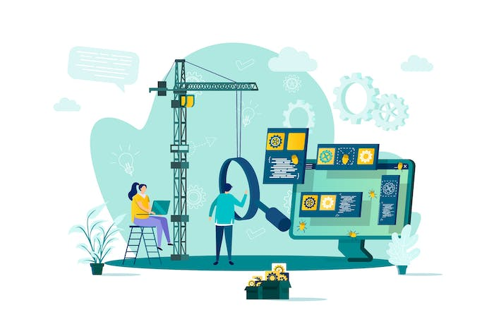 Thumbnail for Software Testing Flat Concept Vector Illustration