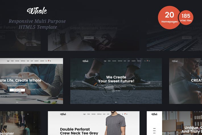 Thumbnail for Whole - Responsive Multi-Purpose HTML5 Template