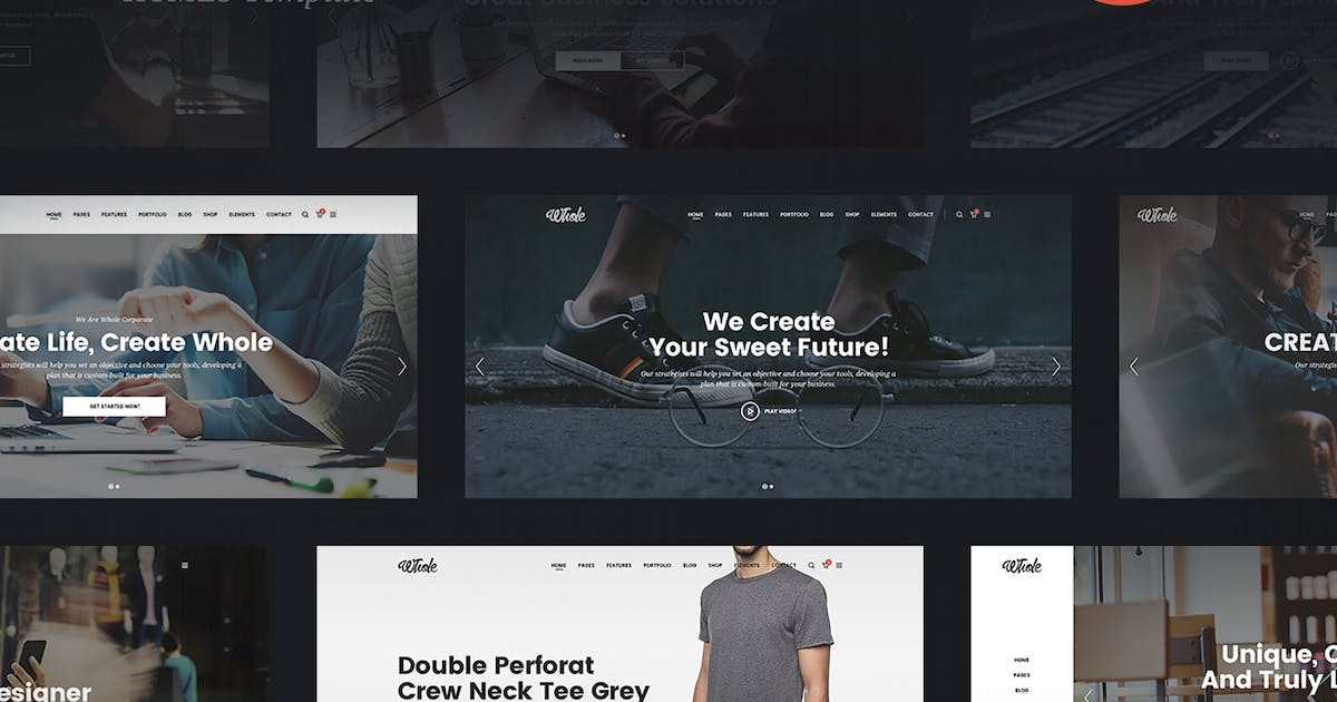 Download Whole - Responsive Multi-Purpose HTML5 Template by 7oroof