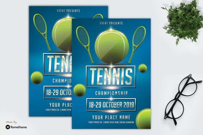 Thumbnail for Tennis Flyer Template vol. 01 MR