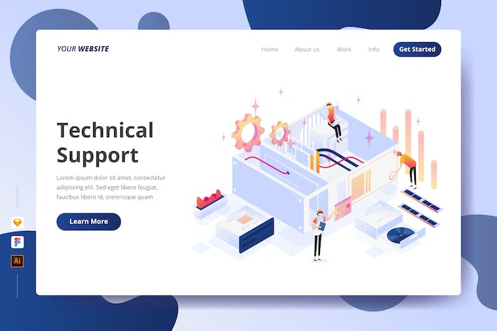 Thumbnail for Technical Support - Landing Page