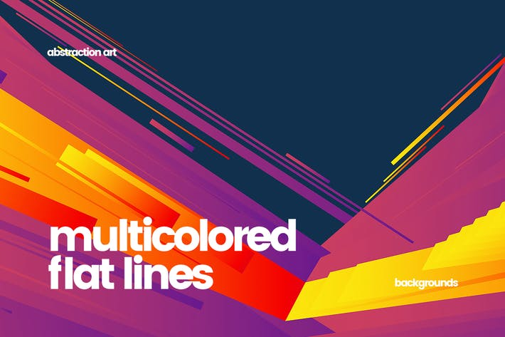 Thumbnail for Multicolored Lines Backgrounds