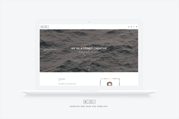 Thumbnail for Ueneo - Creative One Page PSD Template