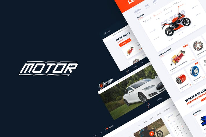 Thumbnail for Motor – Vehicles, Parts & Accessories Web Template