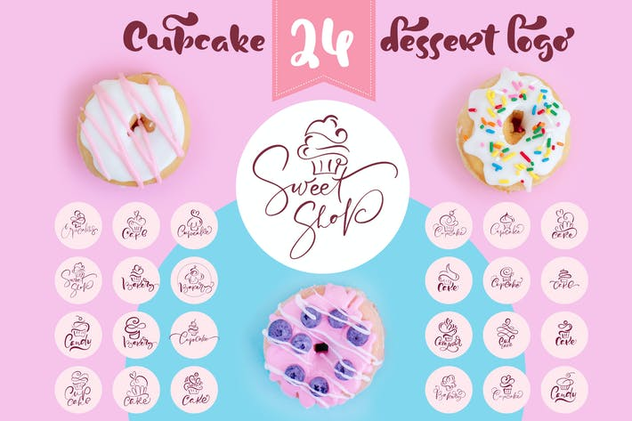 Thumbnail for Cupcake Dessert Logo