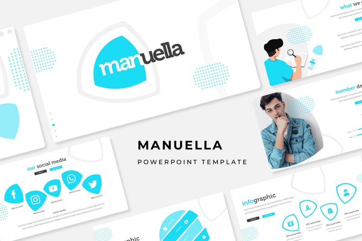 Thumbnail for Manuella - Powerpoint Template