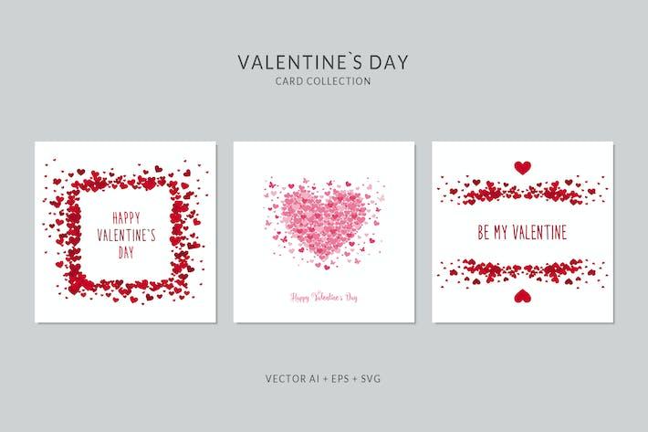 Thumbnail for Tarjeta de San Valentín Vector Set
