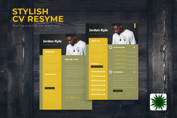 Thumbnail for Stylish CV Resume Template