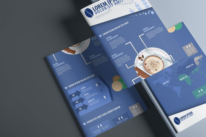 Thumbnail for Coffee Cup Infographics Template