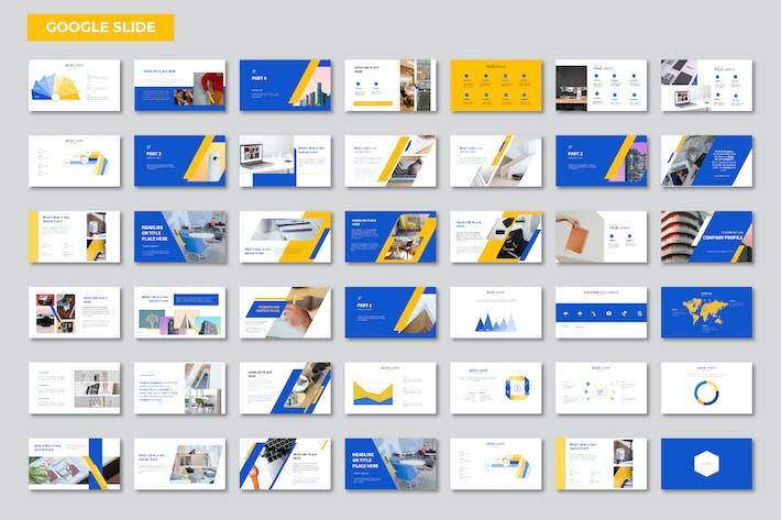 Thumbnail for Голубой Оранжевый Презентация Google Слайд