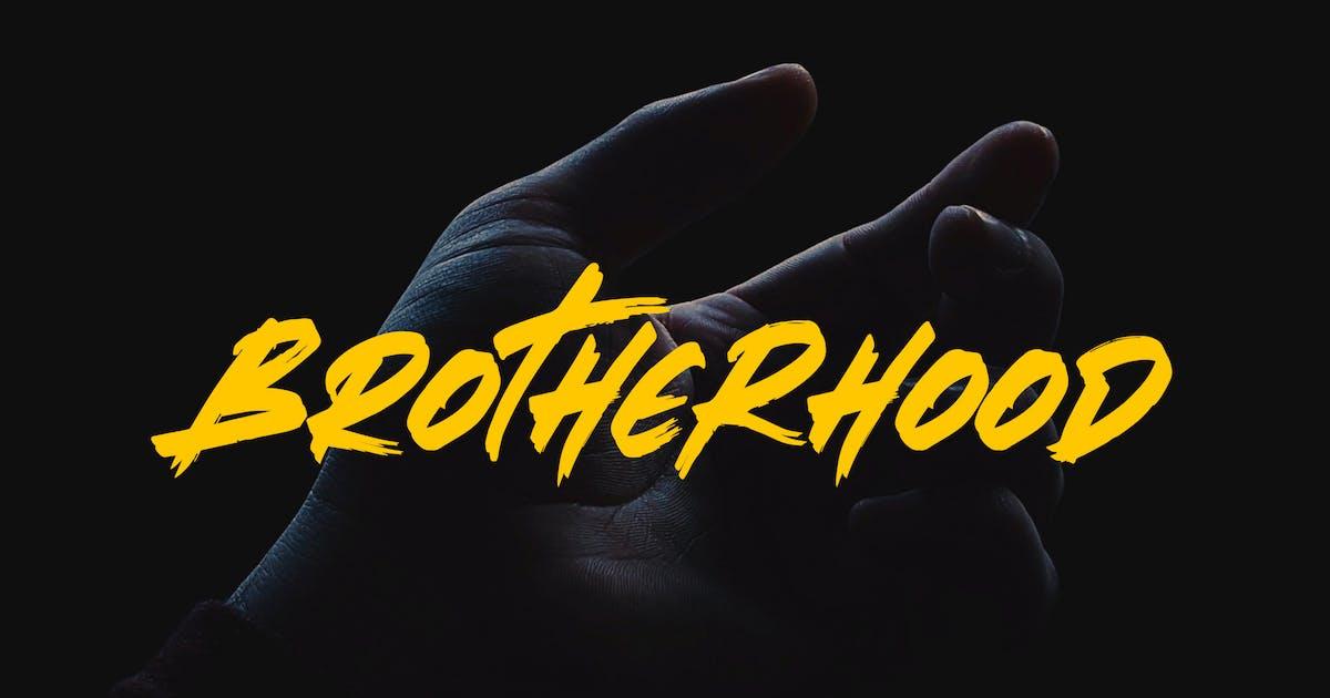 Download Brotherhood - Brush Script Font YR by Rometheme