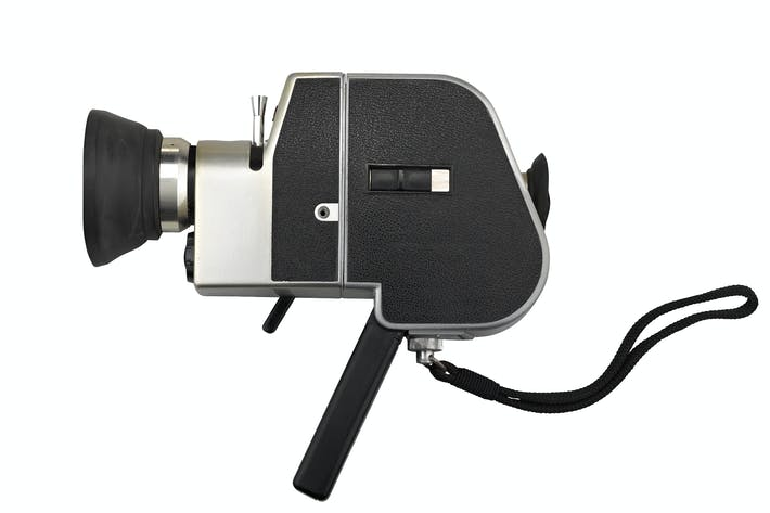Cover Image For camera super 8 isolated