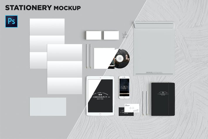 Thumbnail for Brand Identity / Stationery Mockup 06