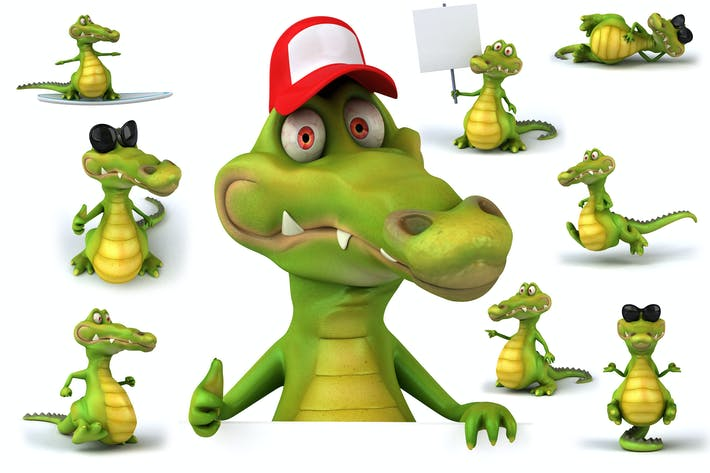 Thumbnail for 10 fun Crocodiles !