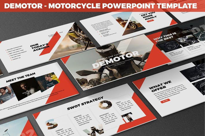 Thumbnail for Demotor - Motorcycle Powerpoint Template