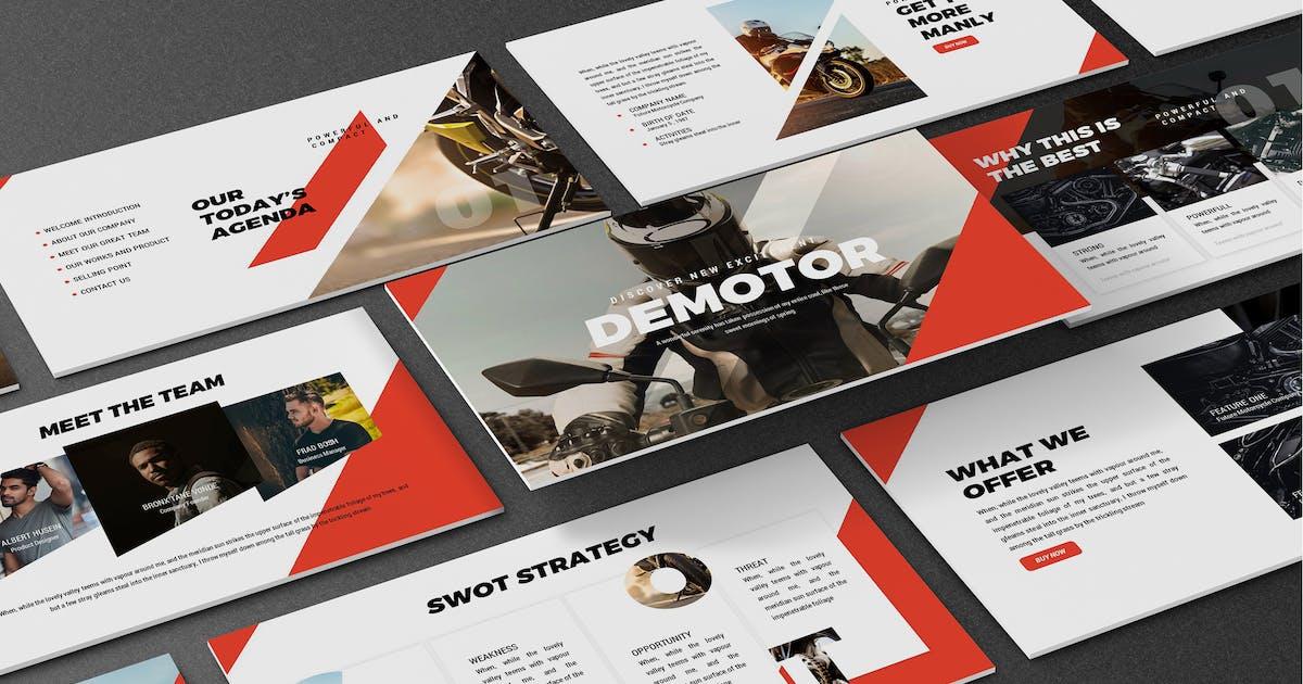 Download Demotor - Motorcycle Powerpoint Template by SlideFactory