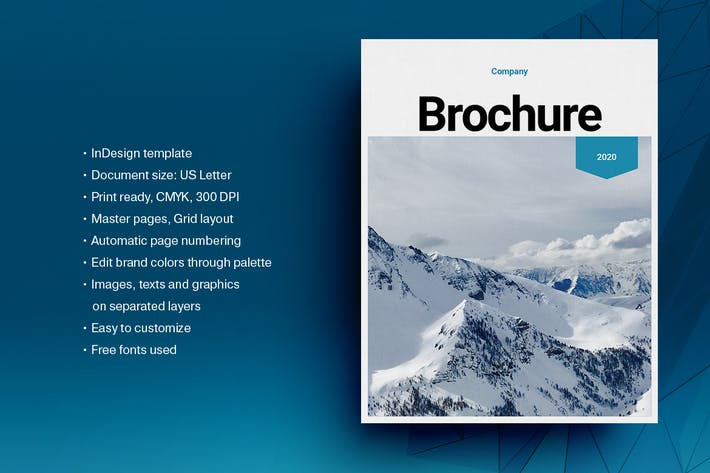 Blue Business Brochure Layout