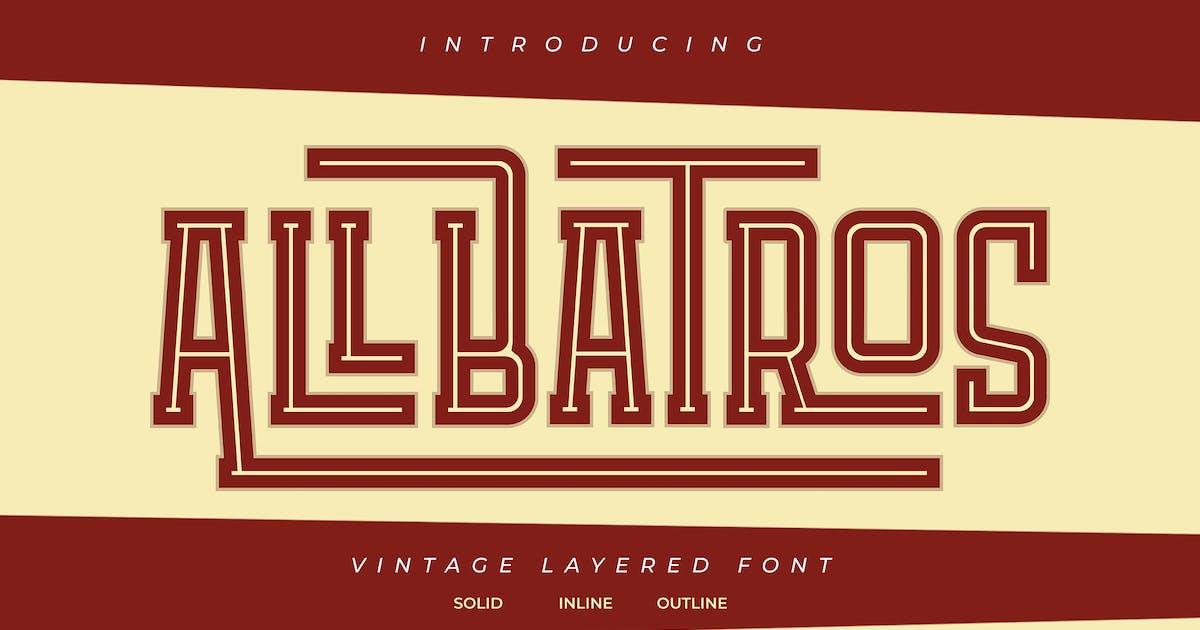 Download Allbatros   Vintage Layered Font by Vunira