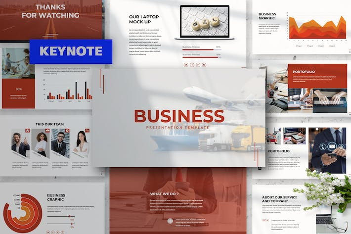 Cover Image For Business Keynote Presentation Template