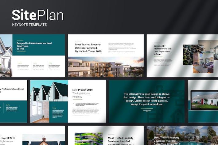 Thumbnail for План площадки — современный Шаблон Keynote